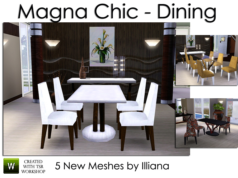 Illiana 39 s magna chic modern dining for Sims 3 dining room ideas