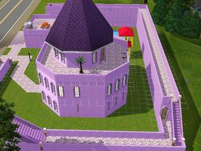 Sims 3 — Purple Castle 2 by clmeow — This used to be an ancient castle, but it was taken over by purple loving rich folks