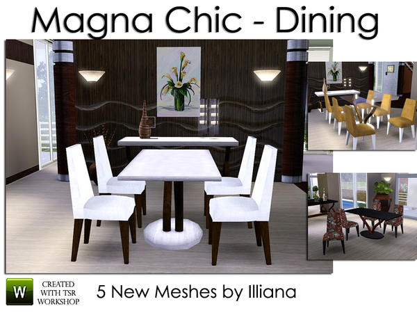 Illiana 39 s magna chic modern dining for Dining room ideas sims 4
