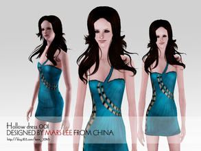 Sims 3 — Tight hollow dress 001 by kerm_2046 — BY MARS LEE