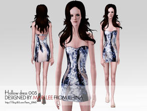 Sims 3 — Tight hollow dress 003 by kerm_2046 — Tight hollow dress by mars lee