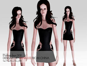 Sims 3 — Tight hollow dress 002 by kerm_2046 — Tight hollow dress by mars lee