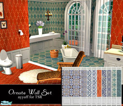 Sims 2 — Ornate Wall Set by ayyuff — Cost:2