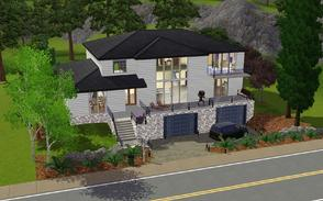 Sims 3 — The Weston House by Anakin_Stupaine — Based on an actual house plan, this contemporary home features a master