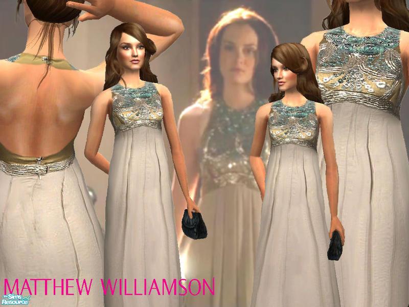 Ancsie18s Matthew Williamson Embellished Halter Dress