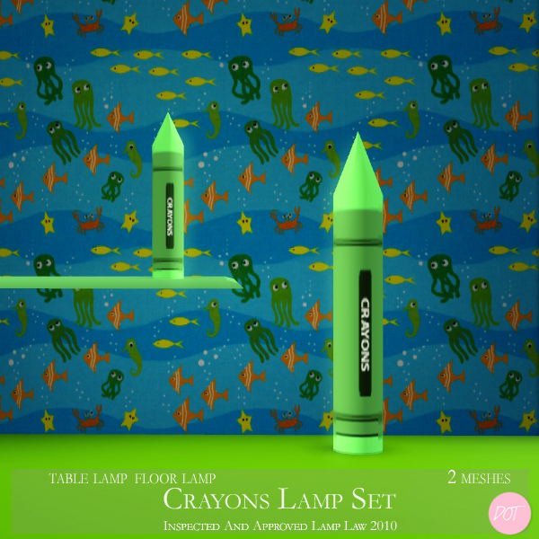 The Sims Resource Elegant Bathroom: DOT's Crayons Lamp Set