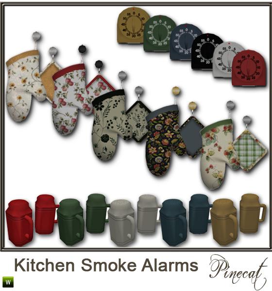 Pinecat 39 S Kitchen Smoke Alarms