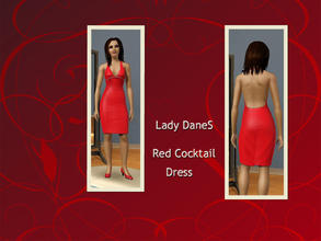 Sims 3 — Red cocktail dress by Lady_Dane — A red cocktail dress. too wear too the party.