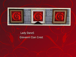 Sims 3 — LadyDaneS Giovanni Clan Crest  by Lady_Dane — Shows the vampire clan Giovanni'S crest, on a bloodred background,