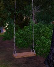Sims 3 — Balancoire simple by lilliebou — Hi, this swing is just a normal seat, it is not a real swing
