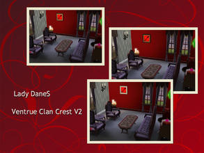 Sims 3 — Lady DaneS Ventrue Clan Crest V2. by Lady_Dane — The ventrue clan's crest with a frame around it. The Ventrue