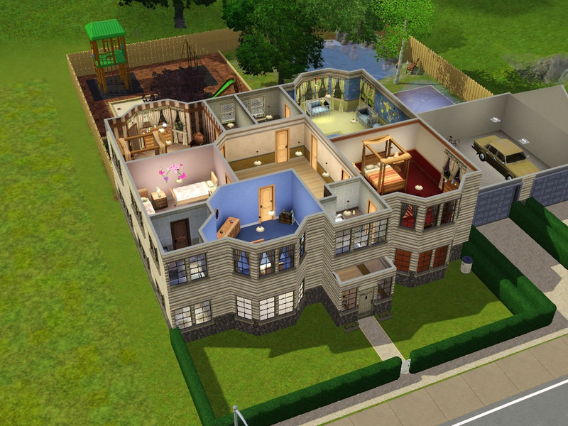 Dramaqueen000 39 s the mini mansion a 7 bedroom 6 bathroom for House designs 7 bedrooms