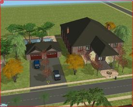 Sims 2 — 32 McFadden Street by Anakin_Stupaine — Large villa w/ 2 Car Garage and Swimming Pool on a 5x5 lot. 3 double