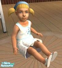 Sims 2 — my little pony summer dress by melaniecox — This little dress is white with light blue spots, with sandals to