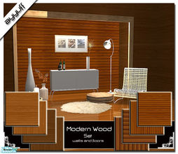 Sims 2 — Modern Wood Set by ayyuff — Cost:2