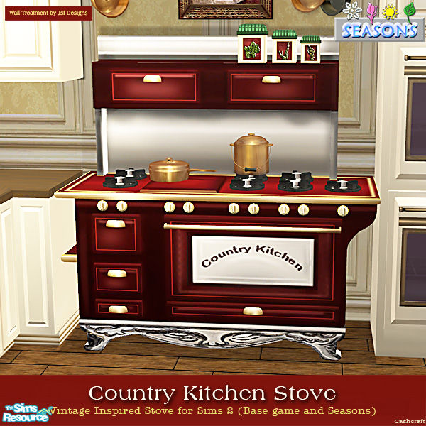 Country Kitchen Appliances: Cashcraft's Country Kitchen Stoves -Seasons Red Recol