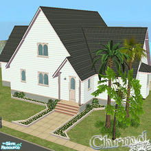 Sims 2 — Beach Front Dream Cottage by Chrmd — Main bed on ground floor with walk in closet & bathroom. Open plan