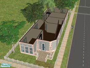 Sims 2 — Salem\'s Way by KatieKing — a victorian house with 3 br 2 ba, office space, kitchen, dining, living room.