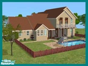 Sims 2 — Arundel by missyzim — Craftsman style home with 3 bedrooms. 4x3 lot. Partially furnished. Car not included.