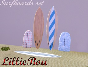Sims 3 — Surfboards set [Decoration only] by lilliebou — Hi, this is a set of non-usable surfboards. You can find them in