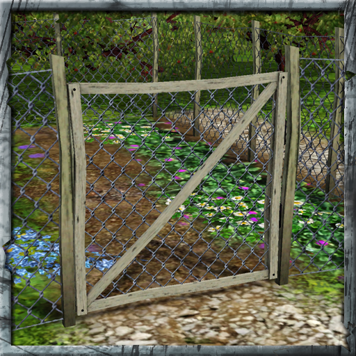 Cyclonesue s rickety chickenwire gate