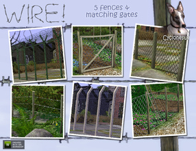 Sims 3 — Barbed and Chickenwire Fences by Cyclonesue — Fences designed to spoil your fun. No more trespassing and no more