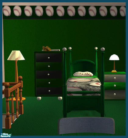 rebecah 39 s baseball bedroom sets wallpaper green