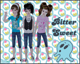 Sims 2 — Bitter Sweet by Pretale — Three diferent looks for your girls, no mesh needed. Enjoy!