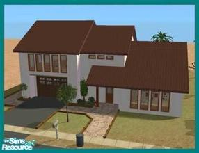 Sims 2 — Palmera by missyzim — Modern Spanish style home. 2 bedrooms. 3x3 lot. Fully furnished. All Maxis content.