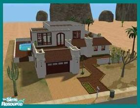 Sims 2 — Modesta by missyzim — Southwest style home. 3x4 lot. Fully furnished. All Maxis content.