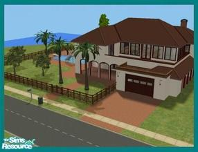 Sims 2 — Brisa by missyzim — Modern Spanish style home. 3 bedrooms. 4x3 lot. Fully furnished. All Maxis content.