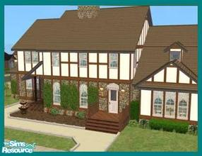 Sims 2 — Anscombe by missyzim — Country style manor with 4 bedrooms. 3x4 lot, must be placed on a corner. Partially