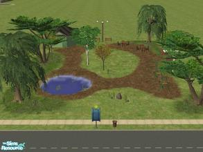 Sims 2 — Beacon Falls Add On's: Smaller Park by lechapeau — For people who don't like big parks! ;) Pond for fishing,