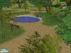 Sims 2 — Beacon Falls Add On's: Big Park by lechapeau — Take a stroll around the lake, fish have a bar-b-que and let the