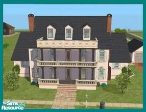 Sims 2 — Atherton by missyzim — A smaller version of my Evanston house by request. Partially furnished. 4x3 lot. All