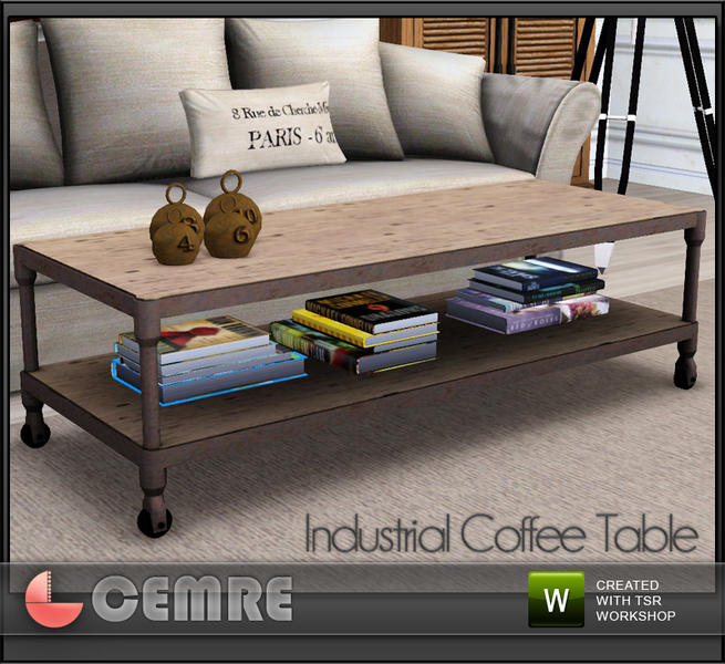 Mojito Home Collection Industrial Coffee Table