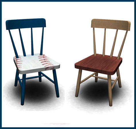 rebecah s Baseball Set Toddler Sized Dining Chair