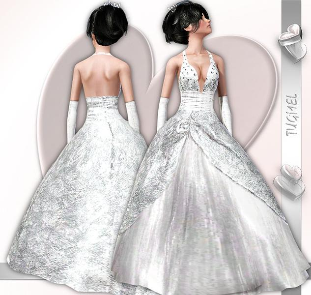 Wedding Altar Sims 3: TugmeL's Wedding Dress-07