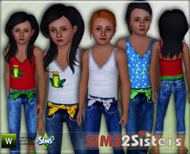 Sims 3 — S2S TankTop&Capri by sims2sisters — Tank top with capri for child girl by Sims2Sisters