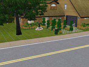 "Sims 3 — 21 Sweetwater Loop Ranch by charmedtink — This ""L"" shaped 2 story house is a beautiful house"