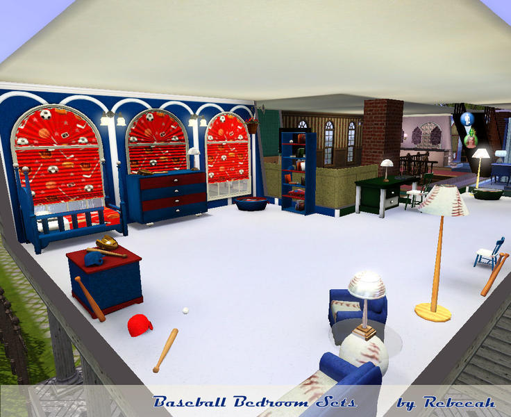 Rebecahs Baseball Bedroom Sets