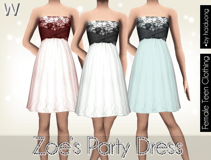 Haiduong s zoe s party dress for teen
