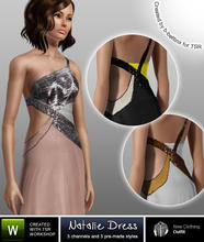 "Sims 3 — Natalie Dress by b-bettina — The ""Natalie"" floor-sweeping cut-out gown with asymmetric design"