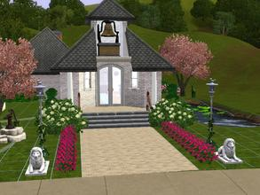 Sims 3 — St Lawrence Chapel by charmedtink — This little chapel is one of the best spots to get married. Its size may be