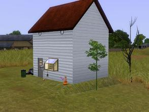 Sims 3 — Trash House by charmedtink — The title says it all. This house has an open floor plan with 1 bedroom and 1