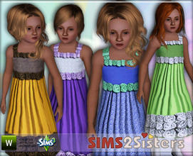Sims 3 — S2S Formal Dress for child by sims2sisters — Formal dress for child girl by Sims2Sisters