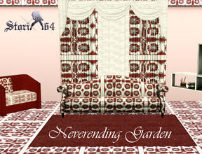 Sims 3 — Neverending Garden by stori_64 — Pattern of tiled floral design