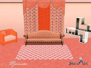 Sims 3 — Spinister by stori_64 — Pattern of spin-like floral designs