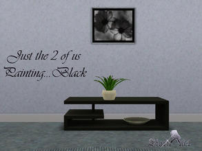 Sims 3 — JustThe2ofUsPortrait_Black by stori_64 — JustThe2ofUsPortrait_Black