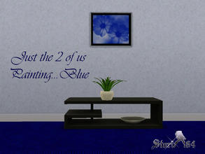 Sims 3 — JustThe2ofUsPortrait_Blue by stori_64 — JustThe2ofUsPortrait_Blue